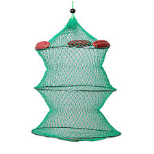 Collapsible Green Knot Boat Fishing Live Bait Keep Net B4D1