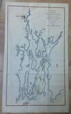 RHODE ISLAND USA 1812 REVOLUTIONARY WAR MAP by JEAN-NICOLAS BUACHE
