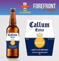 Personalised Beer/Lager bottle label, Perfect Birthday/Wedding/Graduation Gift