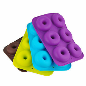 6 Cavity Silicone Doughnut Muffin Mold Non-Stick DIY Baking Pan Kitchen Tools