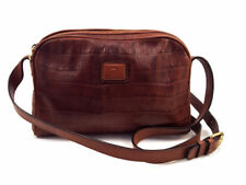 Etienne Aigner Brown Leather Mini Crossover Body Shoulder Bag, Women's