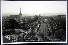 BEGLIUM ~ 1930's LIEGE ~ Panorama sur le Boulevard de la Sauveniere ~ RPPC