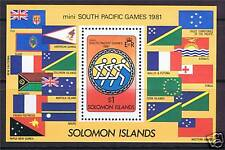 Solomon Is 1981 South Pacific Games MS SG444 MNH