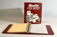 MINOLTA SYSTEM HANDBOOKS FOR SR-T 101, SR-T 100, AND SR-M