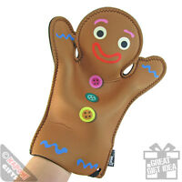 Novelty Oven Mitt - Gingerbread Oven Glove. Kitchen Accessory Pot Holder