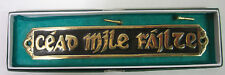 IRELAND IRISH HAND CRAFTED BRASS WALL PLAQUE LARGE BLACK 18cm