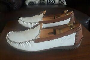 GABOR California Womens Soft Leather White Moccasins No 090-69 Size 5.5UK  US7.5