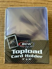 4 Packs (100 Toploaders) Of BCW Standard 3x4 Toploaders (25/pack)