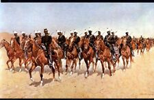KANSAS, FORT RILEY, MEXICAN CAVALRY MOVING PAINTING, REMINGTON, UNUSED, (083