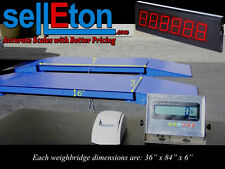 NEW 60,000 lb Axle Truck/Vehicle Weighing Scale with Scoreboard + Printer
