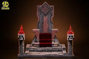 Mythic Legions Fury Clan Orc Four Horsemen Studios King throne Scene Model