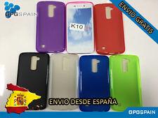 Funda Silicona TPU LG K10 y Cristal templado Opcional ENVIO GRATIS