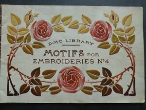MOTIFS for EMBROIDERIES No. 4 by D.M.C Library FRENCH CHARTED EMBROIDERY DESIGNS