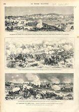 Bataille de Saint-Privat Campagne de Metz Campagne de Metz Prussien GRAVURE 1873