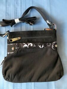 Thirty-One Black Expandable Crossbody Purse