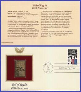USA8 #2421 U/A GOLDEN REPLICA FDC   Constitution Bicentennial