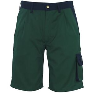 Mascot LIDO Work Shorts Green/Navy C46 Workwear
