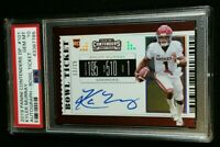 PSA 10 1/1 KYLER MURRAY SSP RC AUTO /25 *ROOKIE BOWL TICKET #101 2019 Contenders
