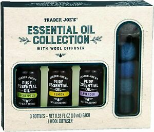 Trader Joes Essential Oil Collection Wool Diffuser Eucalyptus Lemon Lavender