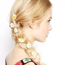Women Boho Flower Daisy Hair Clip Headband Hairpin Accessories White 6PCS