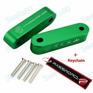 Green Hood Vent Risers Password JDM + Keychain 90-01 Integra / 88-00 Civic Combo