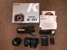 PENTAX K-70 + 18-55mm WR LENS + BOX AND ACCESSORIES - MINT - 650 SHUTTER COUNT!