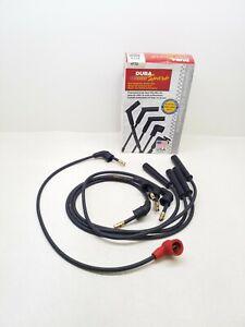477D Dura Spark - Spark Plug Wire Set - 7mm Black - Duel Conductor Carbon Core