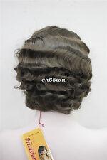 Ladies Short Wavy wig Classy Vintage Curly Wig Black/Brown/Blonde Wigs