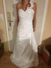 Brautkleid, Hochzeitskleid, Gr. 42, weiss, Satin, ein Träger