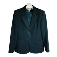 Pendleton Womens Blazer Suit Jacket Coat Wool Button Pocket Work Ladies Size 12