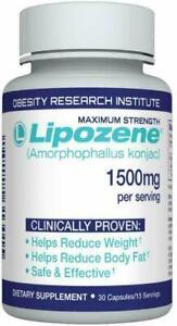 Lipozene Maximum Strength Weight Loss Supplement 1500 mg 30 Count EXP-9/2023