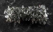 Ladies Bracelet Smoky Quartz Stone Nuggets Seed Bead Jewelry Hand Knotted