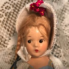"Madame Alexander Ana McGuffey 9"" Doll Circa 1937 Tagged Shoes"