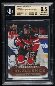 2015-16 Upper Deck UD Canvas Program of Excellence Connor McDavid BGS 9.5 RC