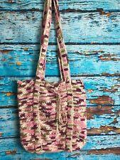 Handmade Beach Bag Market Tote 100% Cotton Crochet Pink Purple Multi