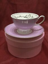 Miss Darcy Bird Cup and Saucer Lavender and Silver by Bombay Duck