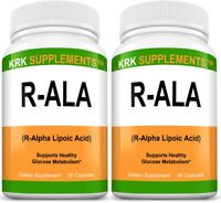 2 Pack R-ALA R-Alpha Lipoic Acid 200mg Blood Sugar Formula Glucose Support