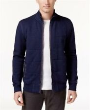 Tommy Hilfiger Mens Ezra Quilted Sweater Jacket Navy...