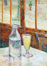 Cafe Table with Absinth by Vincent van Gogh A1+ High Quality Art Print