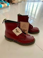New Vintage Dr Martens Made in England, Cherry Red size UK8 1460Z