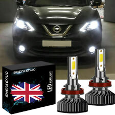For Nissan X-Trail T31 H11 501 55w Super White Low//Slux LED Side Light Bulbs