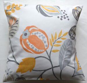 "16"" New Retro Chic Zest orange fabric cushion cover"