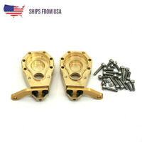 2x Heavy Duty Brass Front Steering Knuckle Upgrade For Traxxas TRX-4 RC 1:10 Car