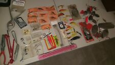 Lot Of Over 50 Vintage Fishing Lures, Tools, And Other Items
