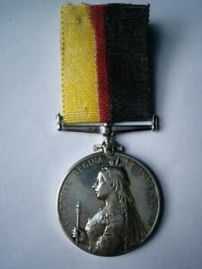 Genuine Victorian silver Queens Sudan medal Battle Omdurman unnamed as issued
