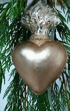 Decoración para árbol de Navidad Corazón Nostalgia Adorno oro
