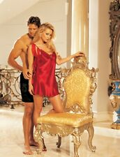 Shirley of Hollywood Women 16 18 20 22 Red Satin Chemise Designer Lingerie