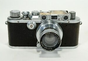 Vintage 1935-48 LEICA IIIa 35mm Camera w/ 1937 Summar f/2 50mm Lens #405774