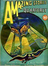 Amazing Stories Qrtly  Vol 4  #1  Pulp  Winter 1931  FVF Breuer, Williamson, Hy