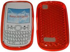 Para Nokia Asha 201 / 2010 patrón Gel Funda Protectora Protector Bolsa Naranja Nuevo Uk